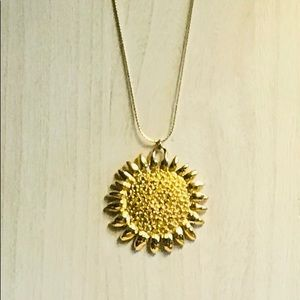"Jewelry - Necklace 23"" GT Sun Burst Medallion"